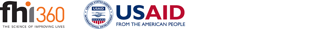 Logos for FHI 360 and USAID