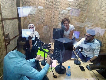 Youth recording radio program