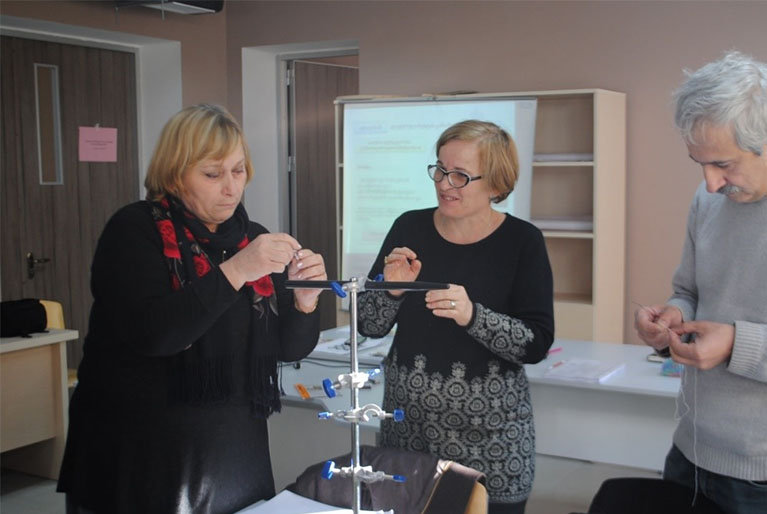Photo of teacher and school leader training