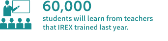 60,000 students will learn from teachers that IREX trained last year.