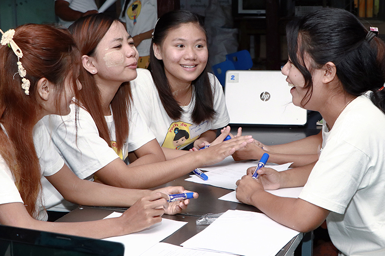 How are tech-savvy girls in Myanmar closing the gender digital divide?