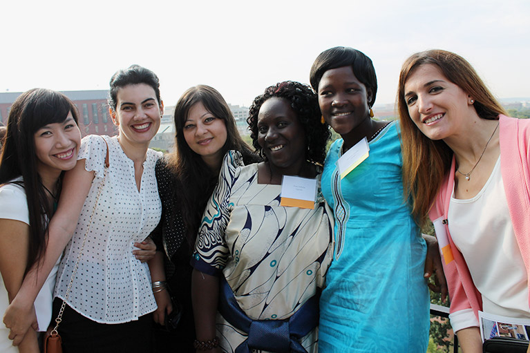 Photo of five women who are fellowship recipients