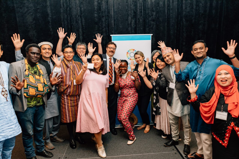 Photo of 2019 Community Solutions fellows.