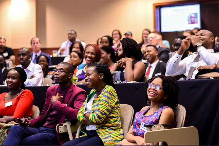 Photo of participants enjoying a presentation