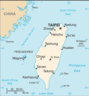 Map of Taiwan