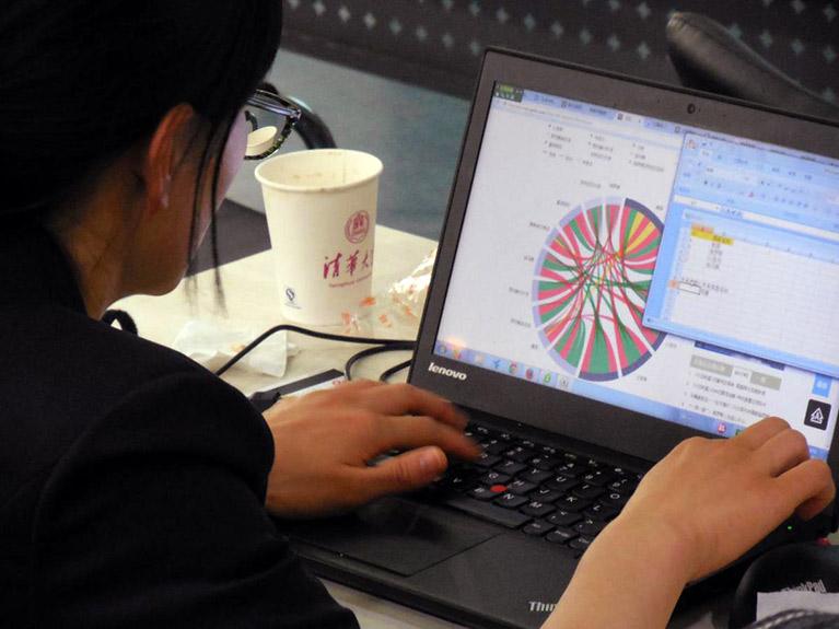 Teacher on laptop