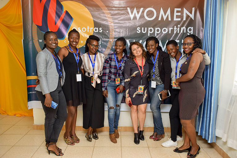 Picture of women leaders at a conference