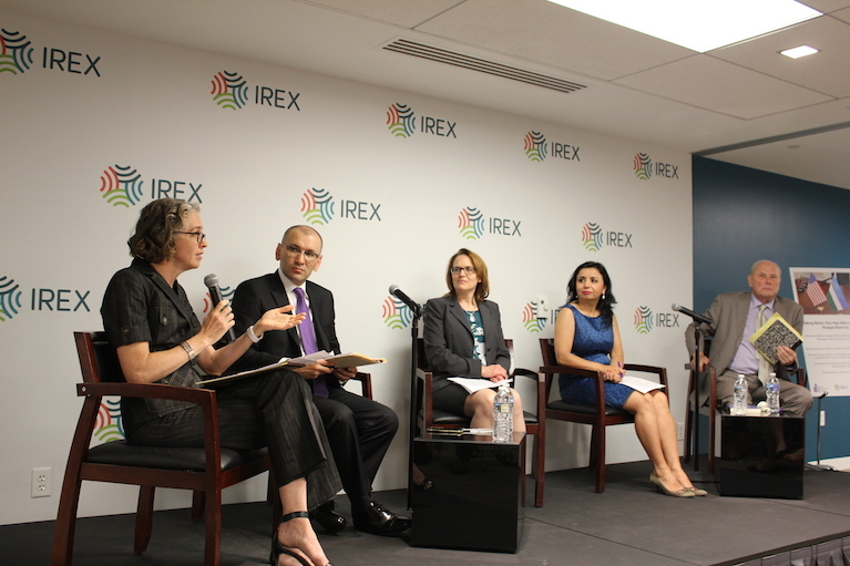 Four participants in a panel at IREX
