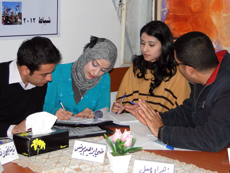 Participants of an IREX program in Iraq