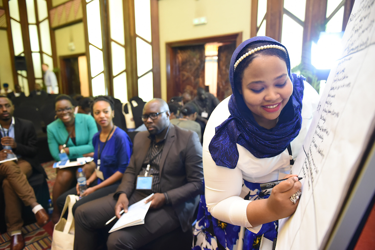 Young African leaders pitch innovative solutions to businesses to shape the future of Africa