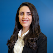 Picture of Sally Bisharat, communications officer at IREX