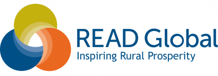 "READ Global's logo with the tagline ""Inspiring Rural Prosperity."""