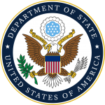 Seal of the U.S. Department of State.